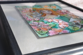 Mixed Media art using postage stamps by Pauline King