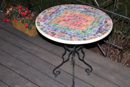 Postage Stamp table using my father's collection