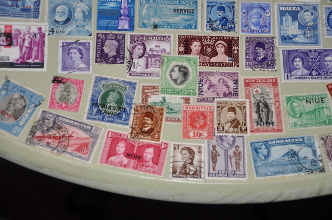 postage stamp table project