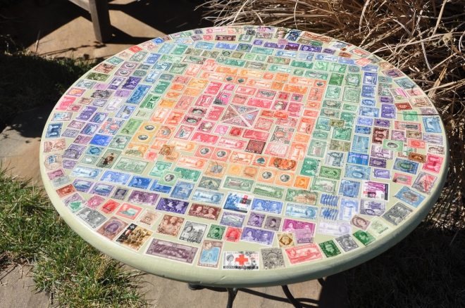 Table top postage stamps