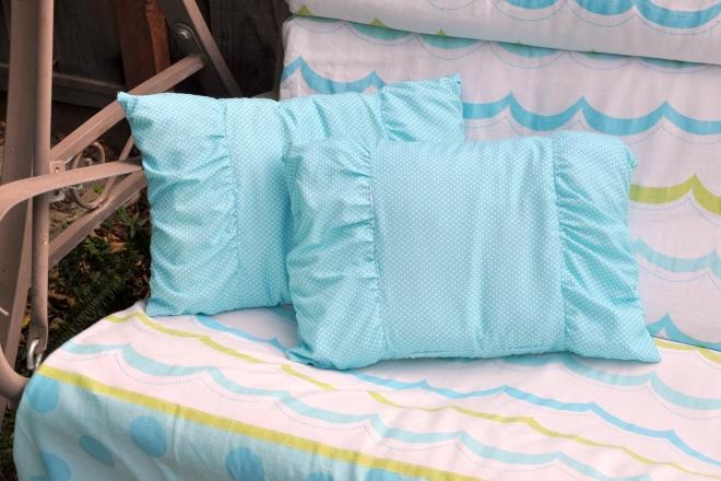 garden swing cushions side view