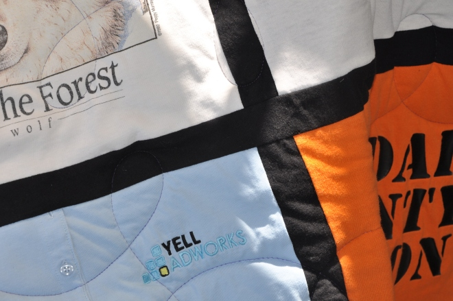 t shirt side of quilt