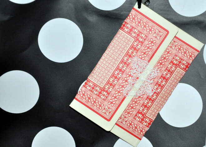 Vintage, over-sized playing card