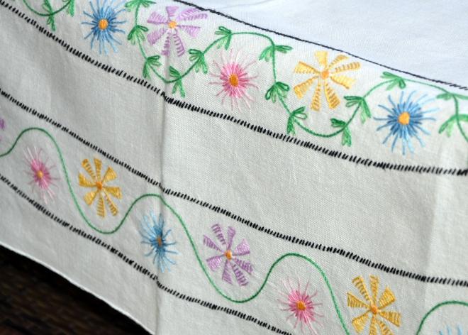 Vintage Tablecloth Detail