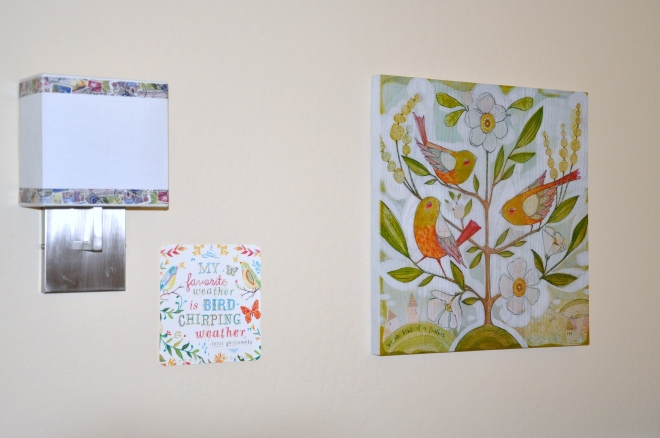 Washi tape, wall calendar page and wooden art