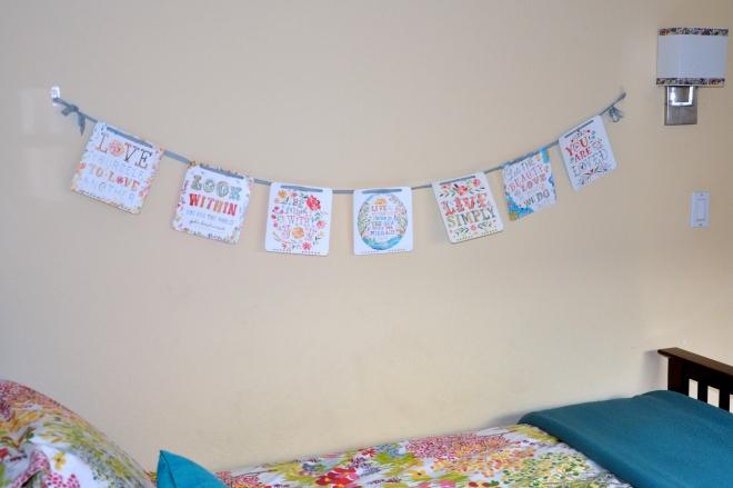 Katie Daisy calendar wall bunting/banner
