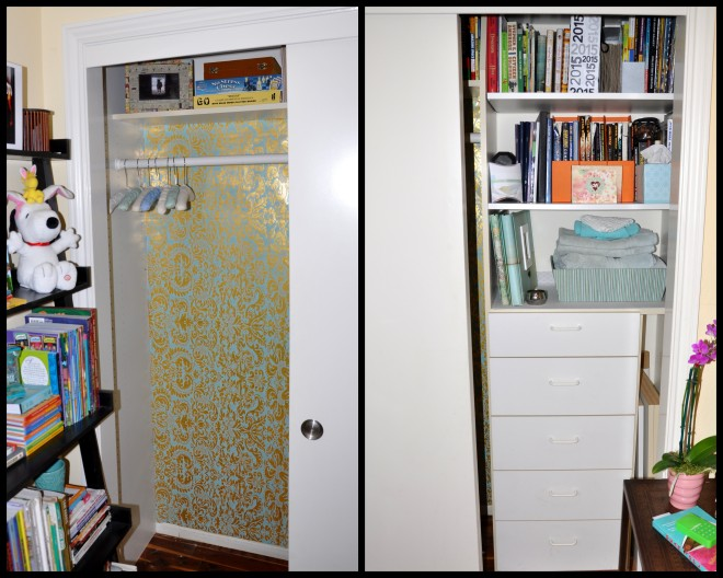 guest room closet after collage