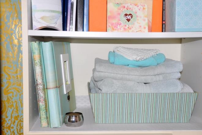guest room closet after towels