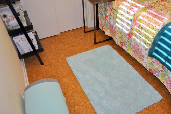 guest room floor after