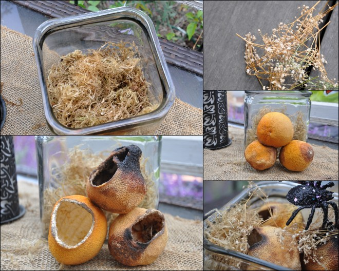 dried orange arrangement