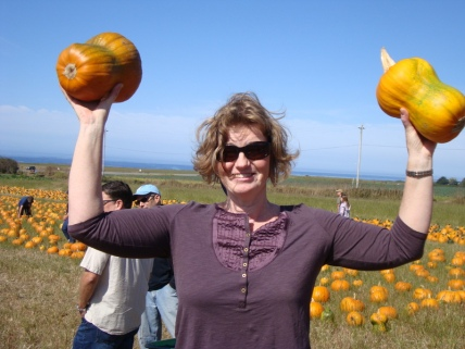 Lifting Pumpkins is great exercise
