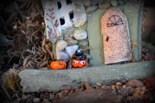 fairy garden pumpkins