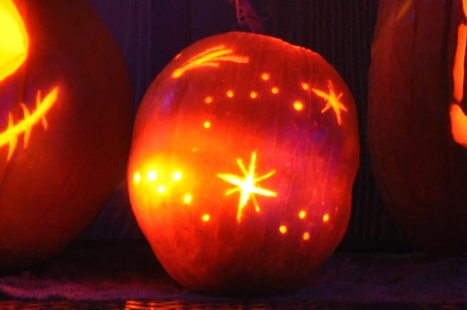 pumpkin stars beacon of light
