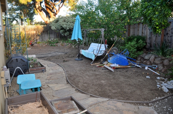 landscape revision tools and cleared area