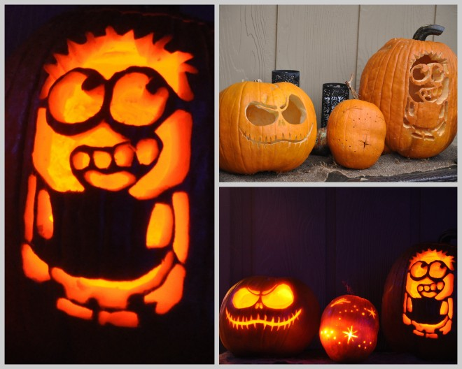 pumpkin carving collage 2015