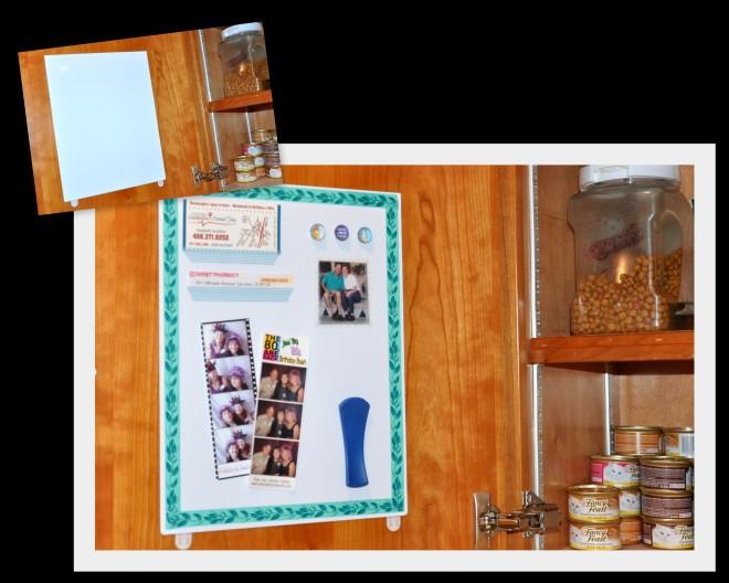 Washi tape magnet board