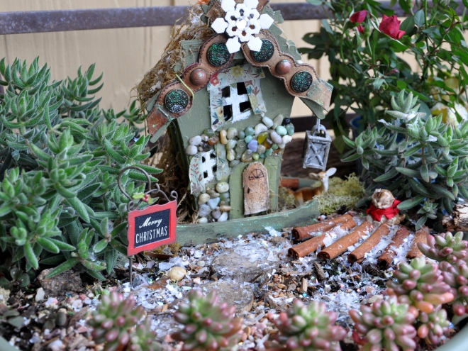 fairy garden Christmas long view