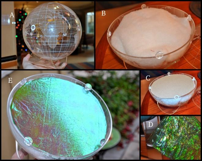 Snow globe collage A - E