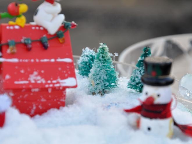 snow globe detail snowman
