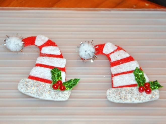 snow globe felt hats for sleigh