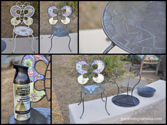 DIY bird bath collage steps