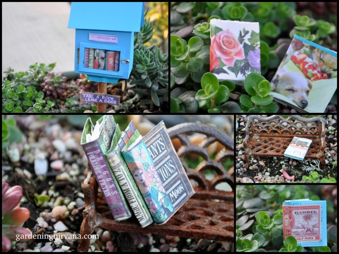 mini little free library collage