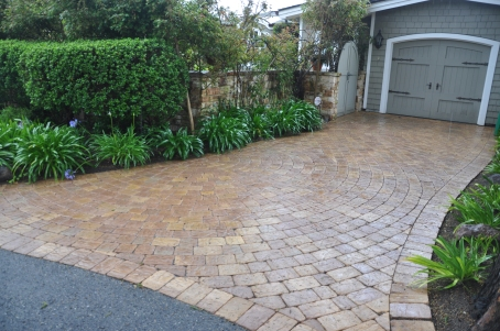 Even the driveways are stylish