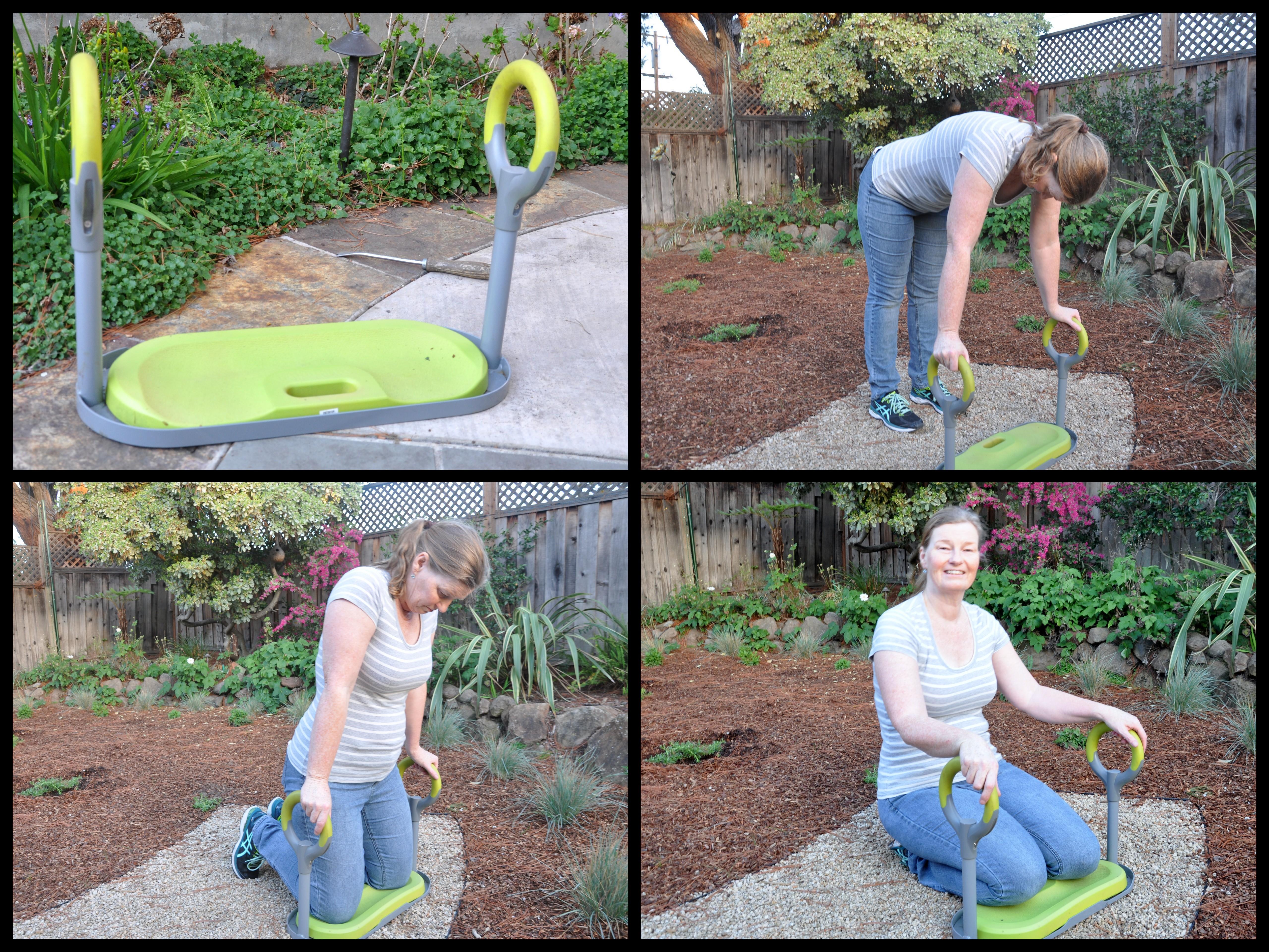 Gardenease Kneeling Bench. Kneeling In The Garden
