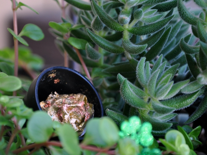 fairy garden pot of gold