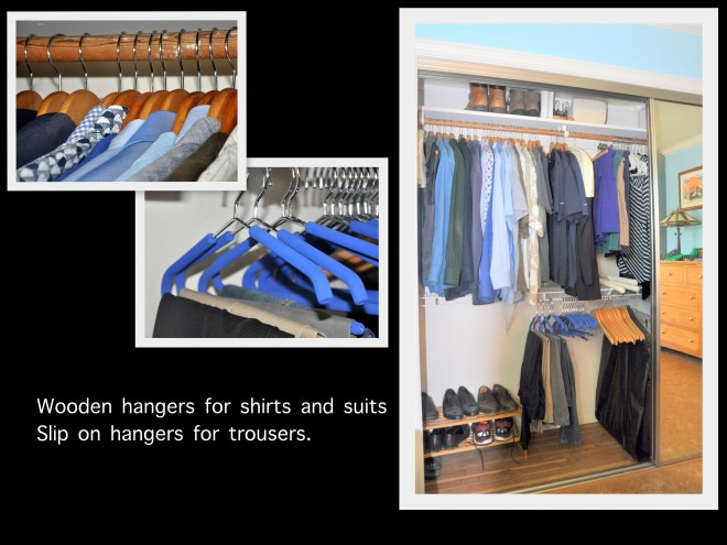 organized closet husband