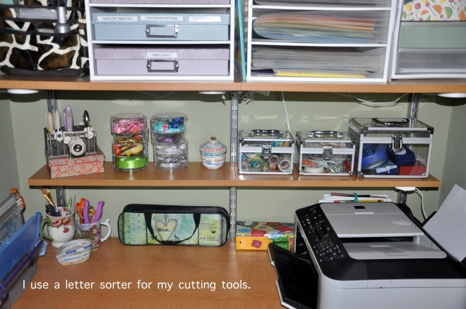 organized crafts cutting tool sorter