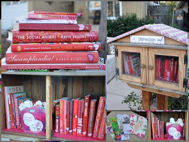 valentine's day litttle free library collage