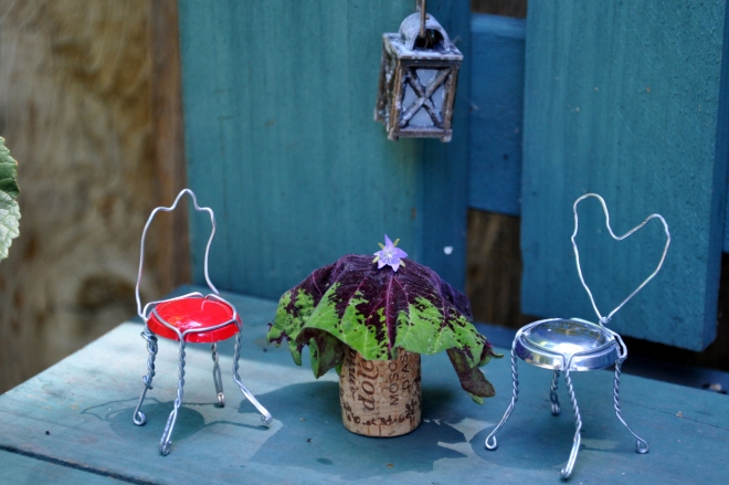 fairy garden chairs and table