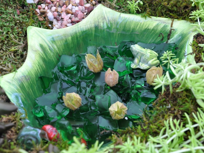 fairy garden ceramic pond