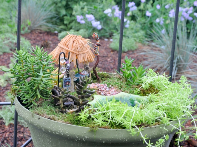fairy garden grass hut