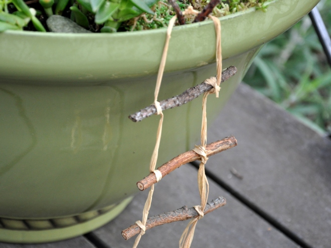 fairy garden rope ladder