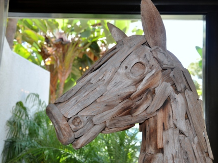 Sculpted from driftwood