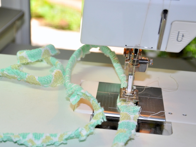 garden swing cover sewing machine detail