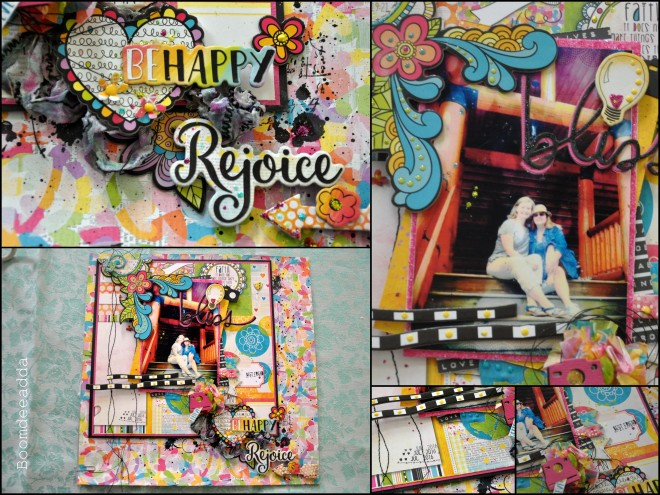 urban scrapbook page layout