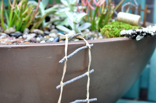 access-ladder-recycled-twigs