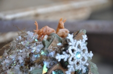 Tiny reindeer on the roof