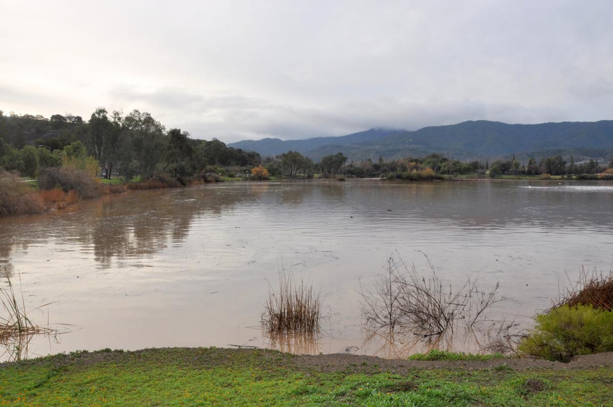 Almaden Lake after a storm