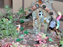Fairy garden shamrocks and a pot of gold