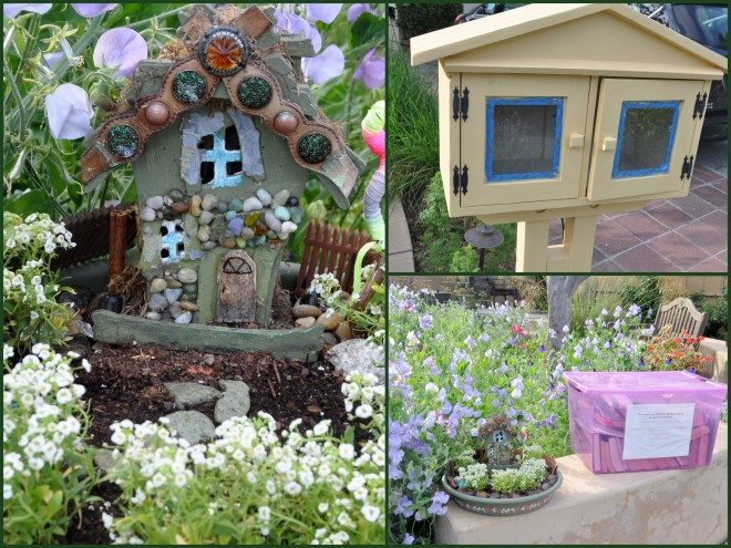 Fairy garden and Little Free Library