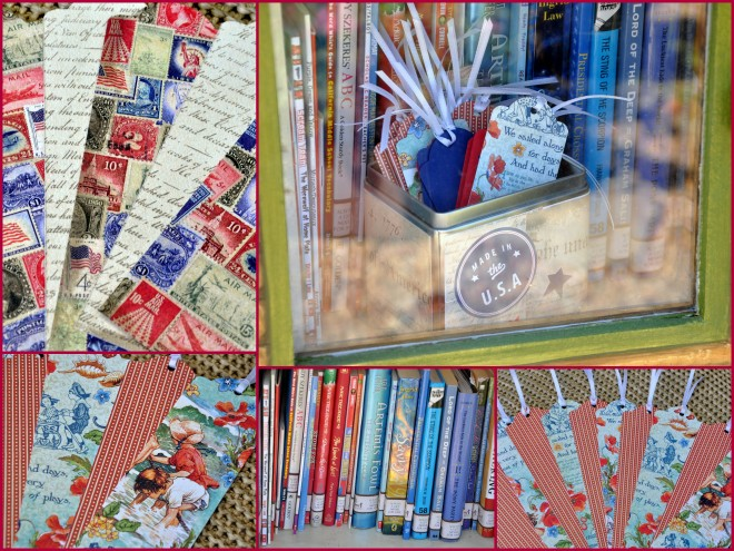 Little Free Library and bookmarks