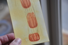 Two more layered pumpkin stamps