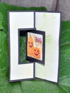 Z-shaped card with window