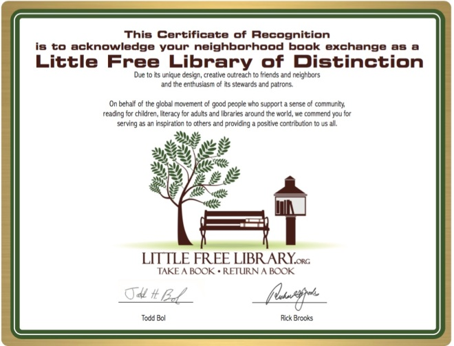 Little Free Library of Distinction