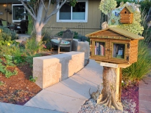 The Little Free Library curb view