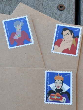 Disney Villian postage stamps